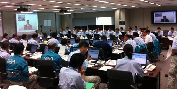 2011年に実施した防災訓練の様子