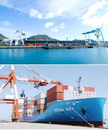 造船事業、海運事業で海外の拠点展開を進めている