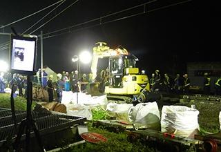 「吾妻線一部付替え工事」の工事現場