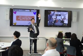 V-CUBE ミーティングを使い、5拠点を結んでの講義風景