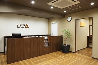 ホットヨガスタジオLAVA様のフロント