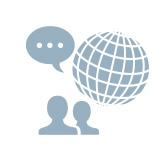 7言語に対応アイコン
