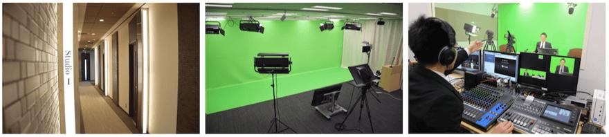 常設7スタジオ(最大8スタジオ)に加えて、控え室や編集室を完備