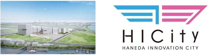 羽田イノベーションシティのパース図ならびにロゴ