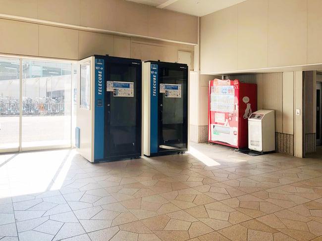 名鉄バスターミナルビル設置のテレキューブ