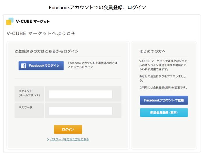 Facebookアカウントでの会員登録、ログインに対応