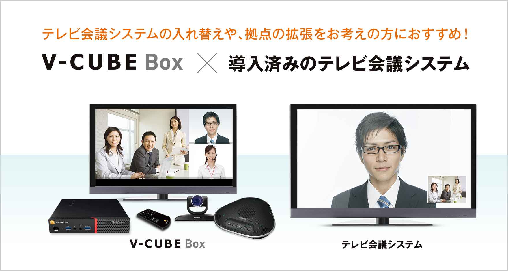 V-CUBE Box×テレビ会議の連携