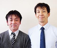 三島市教育委員会 榊原 光 主事(左)、佐藤 倫彦 指導主事