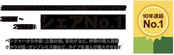2007~2016年シェアNo.1