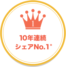 10年連続シェアNo.1