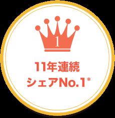 11年連続シェアNo.1