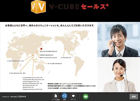 V-CUBE セールス&サポート画面