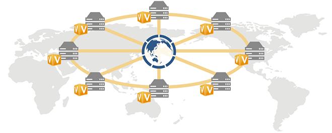 海外拠点間専用ネットワーク グローバルプラン概念図