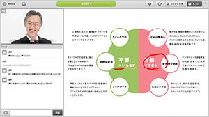ライブセミナー受講者側画面