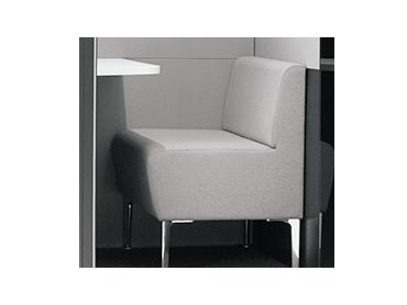 テレキューブ 標準仕様 耐薬仕様のソファ