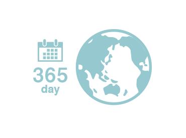 7言語に対応 24時間365日利用可能