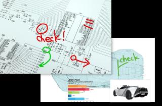 大型デジタル図面を紙図面のように扱うペーパレスシステム
