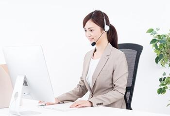 Web会議を活用し、コールセンターの専任スタッフが遠隔から対応