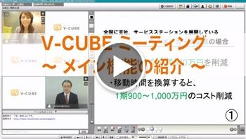 V-CUBE ミーティング ~メイン機能の紹介 (操作説明編)~ (1分54秒)
